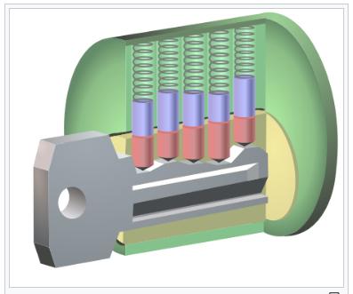 Pin tumbler with key