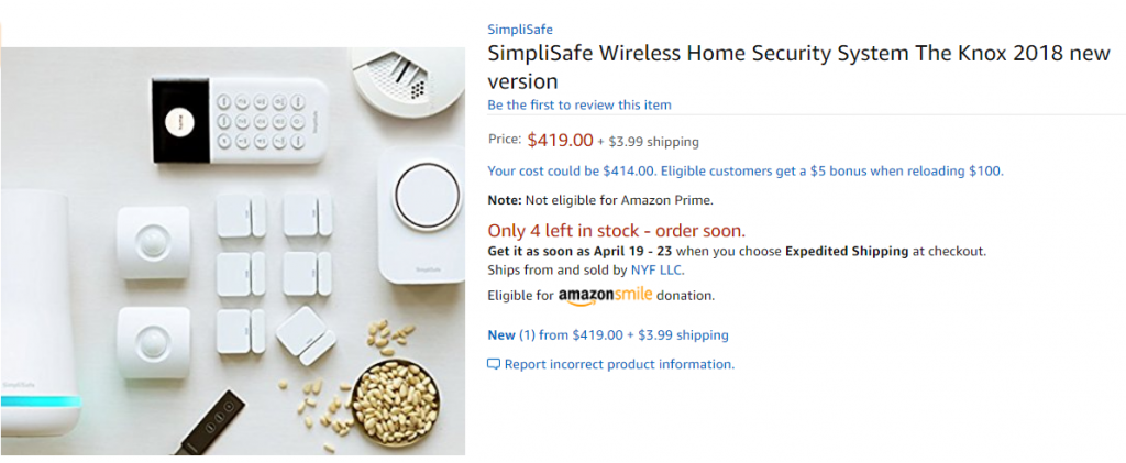SImplisafe the knox